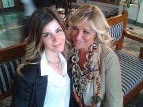 Con AnnaPaola, una delle mie giornaliste preferite