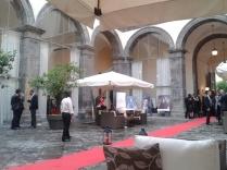 Il cortile di Palazzo Caracciolo